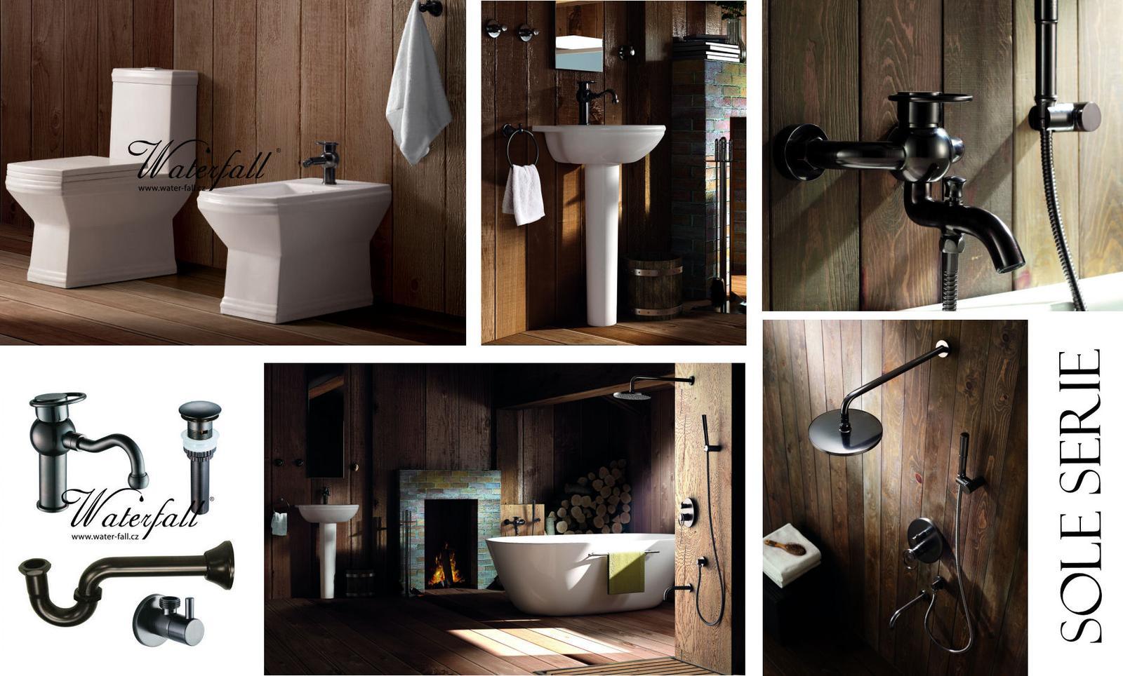 Retro koupelna - Sole série designových vodovodních baterií