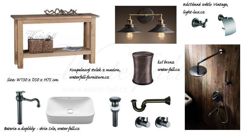 Retro koupelna - chystáme novinky, stolky ve výrobě, baterie skladem, koše na cestě :)