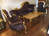 Hotel Arcadie***, Český Krumlov, retro sofa v chocolate barvě