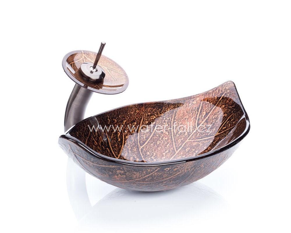 Bronzový umyvadlový set Leaf - Obrázok č. 1
