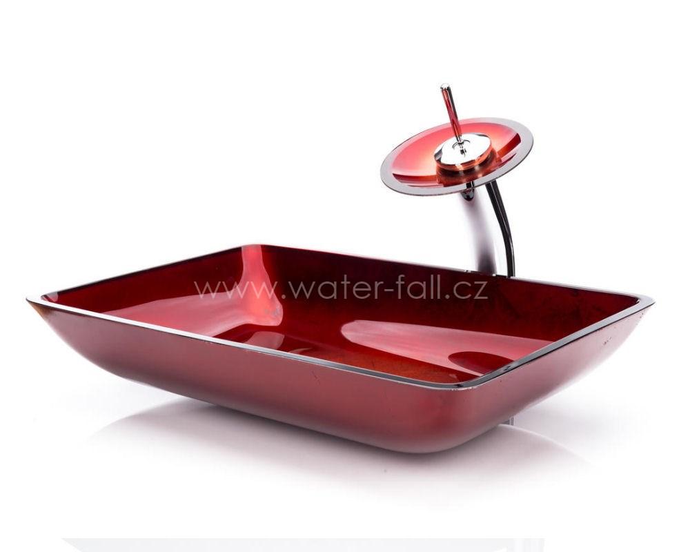 Červený umyvadlový set - Obrázok č. 1