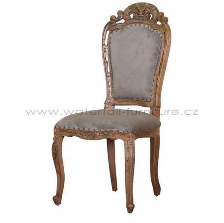 Retro šedohnědá židle - Obrázek č. 2