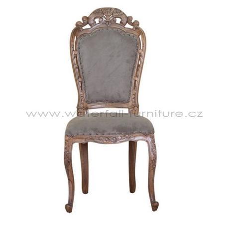 Retro šedohnědá židle - Obrázek č. 1