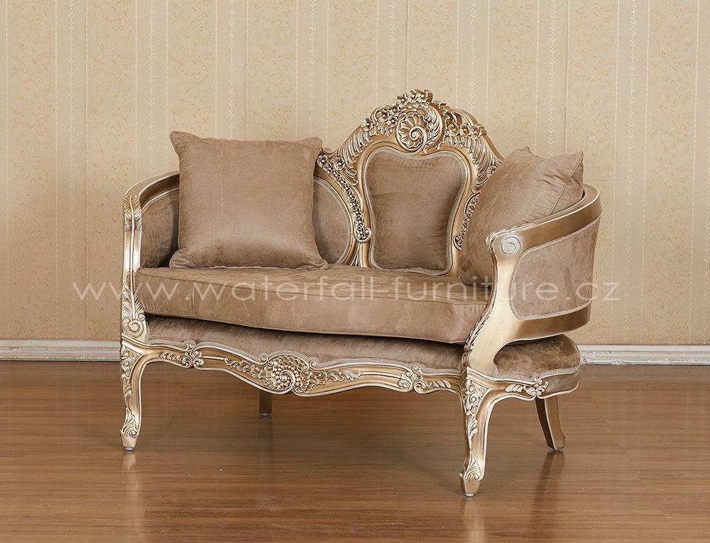 Malé retro hnědé sofa - Obrázek č. 2