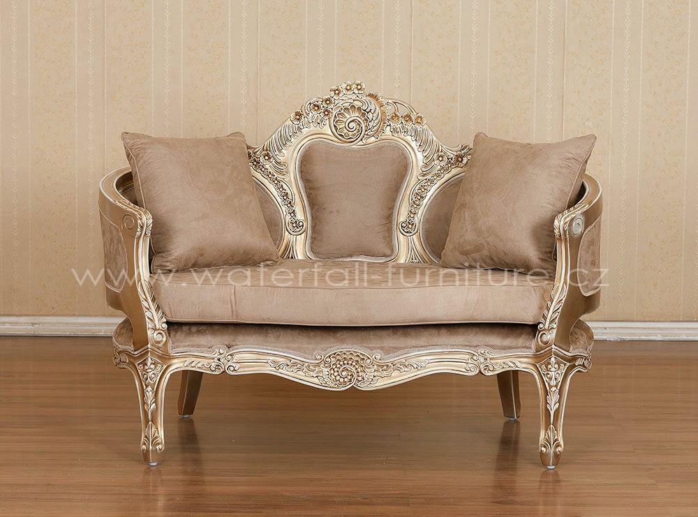 Malé retro hnědé sofa - Obrázek č. 1
