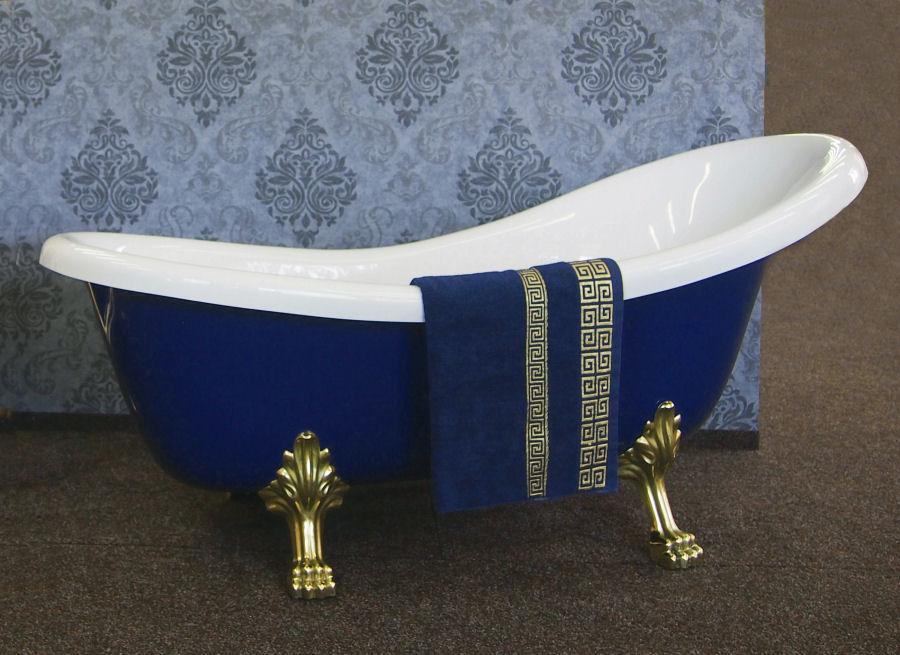 Masivní modrá volně stojící vana Sapphire Blue - Obrázok č. 1