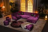Luxusní sedačka Nayomi Purple 327 x 185 cm,