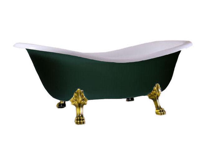Retro volně stojící vana, tmavě zelená - Obrázek č. 1