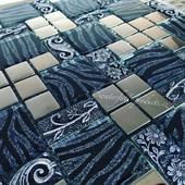 Luxusní mozaika Black & Silver,
