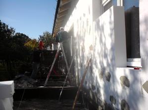19.10.2012 špalety a dokončujeme polystyrén na dlhých stranách