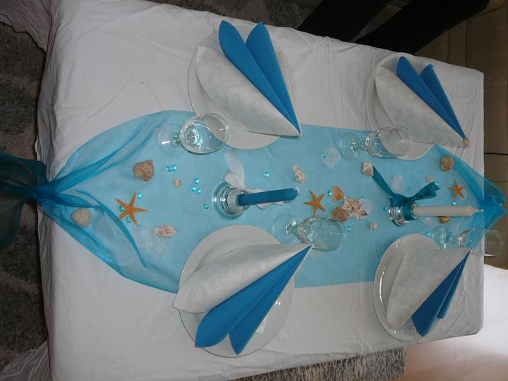 Co už máme a inspirace aneb mořská svatba - Zkouška tabule