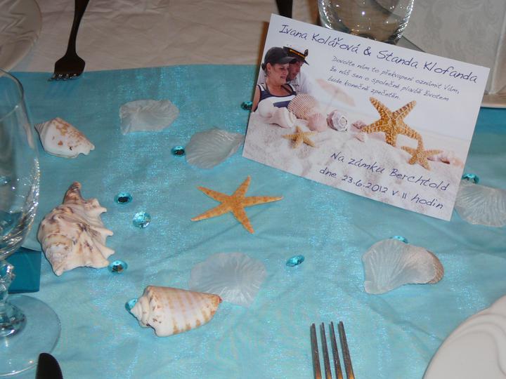 Co už máme a inspirace aneb mořská svatba - svatební oznámení