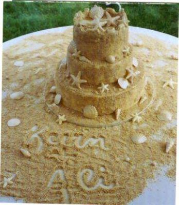 Co už máme a inspirace aneb mořská svatba - Vybrala jsem si dort, tak se zkusím zeptat cukrářky, jestli ho zvládne..