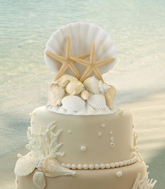Co už máme a inspirace aneb mořská svatba - figurka na dort 2