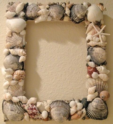 Co už máme a inspirace aneb mořská svatba - Rám na focení, vyrobí moje šikovná maminka :-)