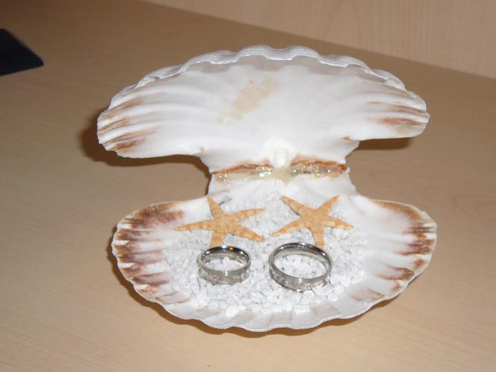 """Co už máme a inspirace aneb mořská svatba - Náš """"polštářek"""" na prstýnky"""