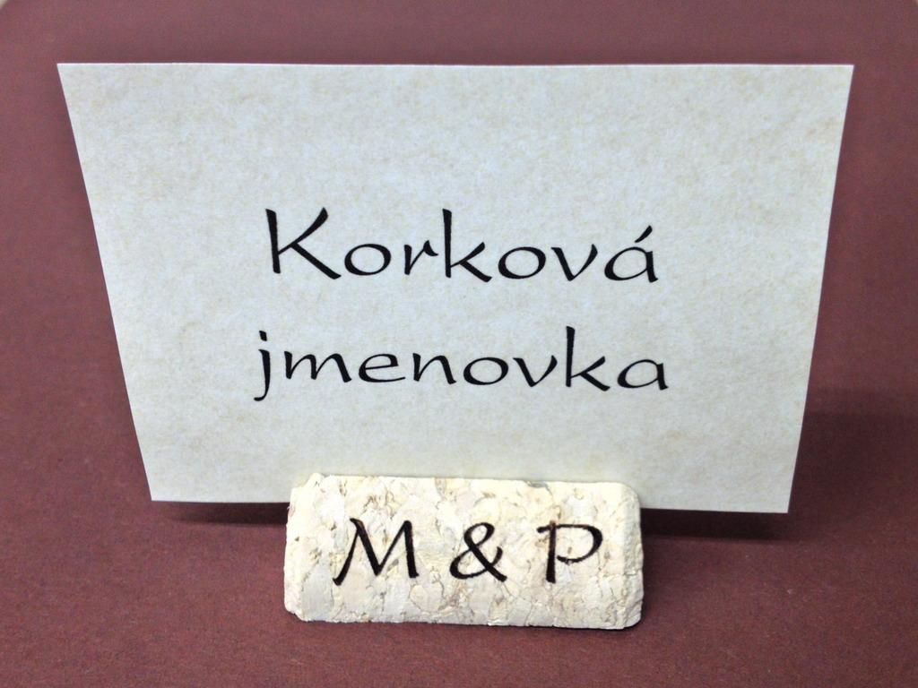 Stojánky na jmenovky na stůl - Odkaz na tento produkt v e-shopu ke zkopírování: http://www.svatebni-diar.cz/vyhledavani/?istr=kork&act=srch