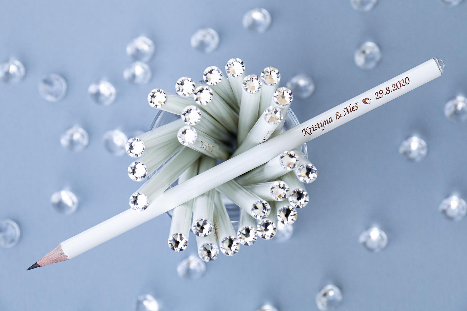martin_patek - svatební tužky pro hosty s vaším textem