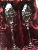 Dárková sada 2 skleniček na víno - děkuji za syna,