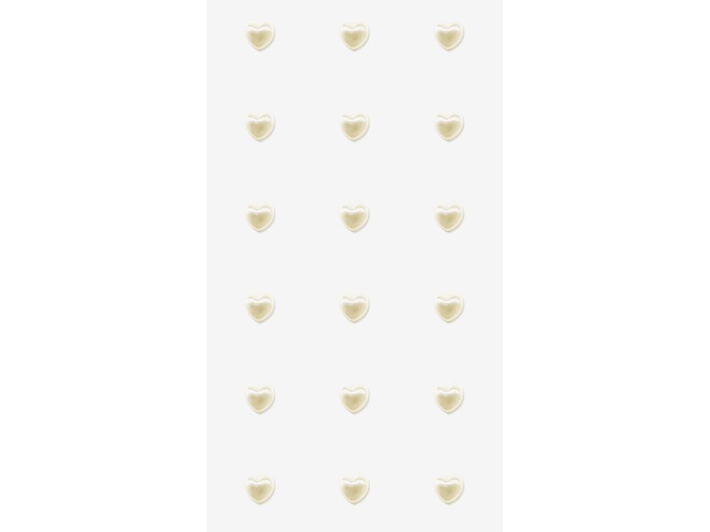 Svatební samolepky - perly srdce větší 18 ks - Obrázek č. 1