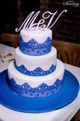 Monogram na dort / A-Z / bílé,