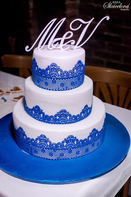 Monogram na dort / A-Z / bílé - Obrázek č. 1