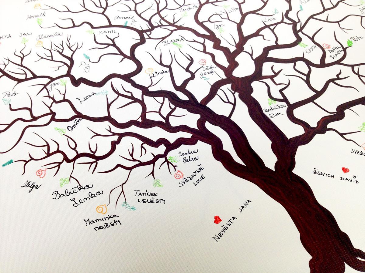 Svatební stromy hostů se jmény - Obrázek č. 4