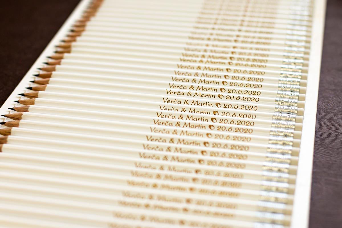 Svatební tužky s Vaším gravírovaným nápisem - Obrázek č. 1