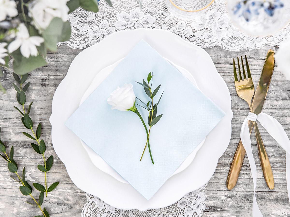 Svatební ubrousky Premium - různé barvy - Obrázek č. 1