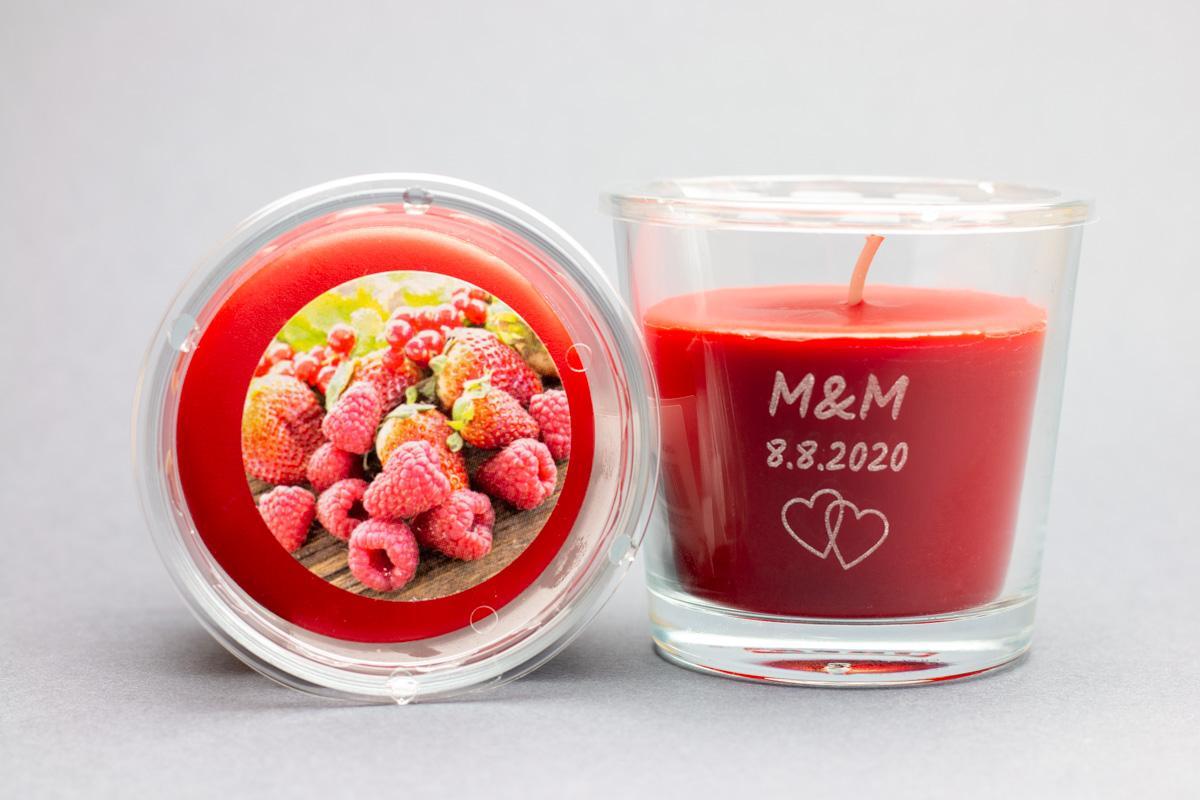 Vonné svíčky ve skle se jmény - různé vůně - Obrázek č. 1