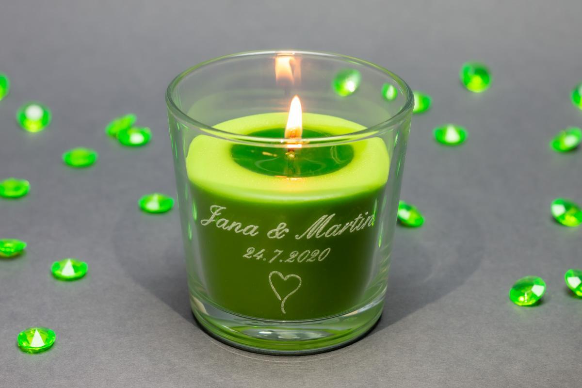 Vonné svíčky ve skle se jmény - různé vůně - Obrázek č. 2