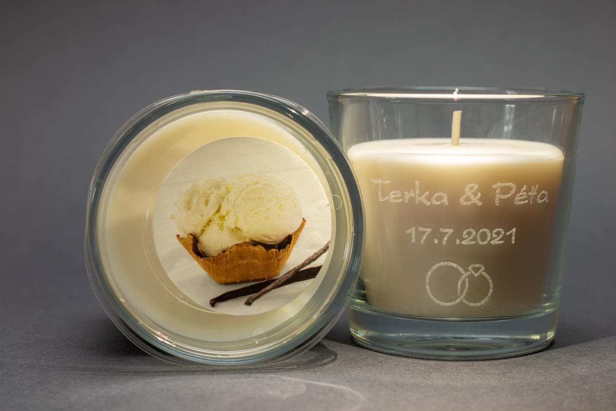 Vonné svíčky ve skle se jmény - různé vůně - Obrázek č. 3