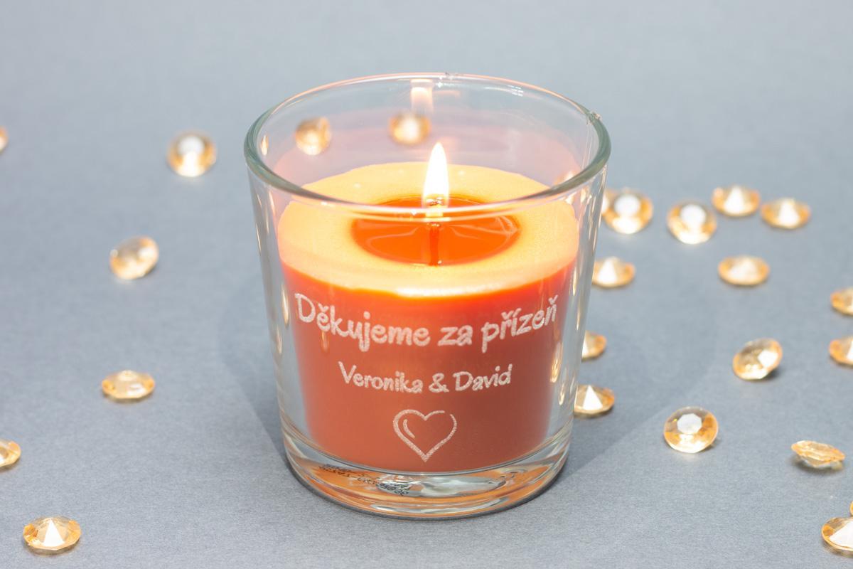 Vonné svíčky ve skle se jmény - různé vůně - Obrázek č. 4