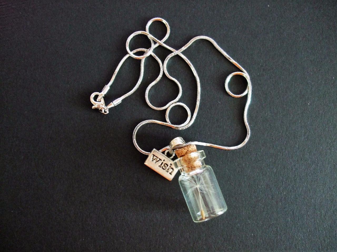 Darované přání - přívěšek s pampeliškovým chmýřím  - Obrázek č. 1