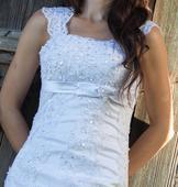 Svadobné šaty - snehobiele, 36