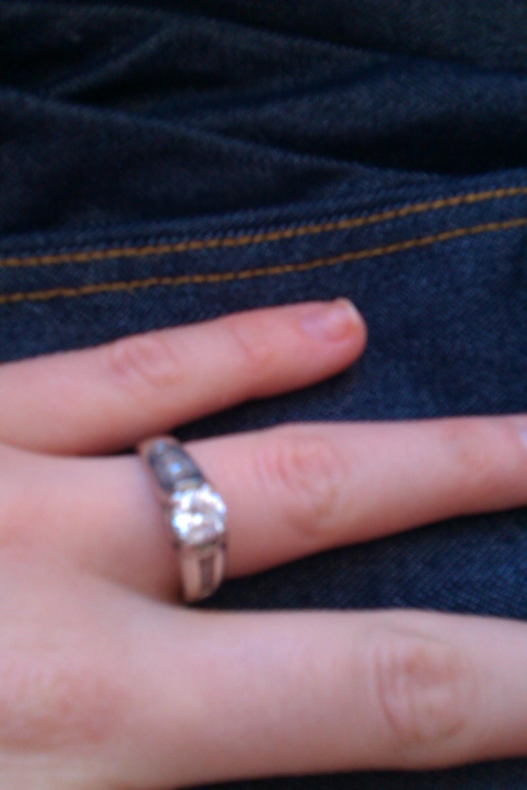Strieborný prsteň - Obrázok č. 1