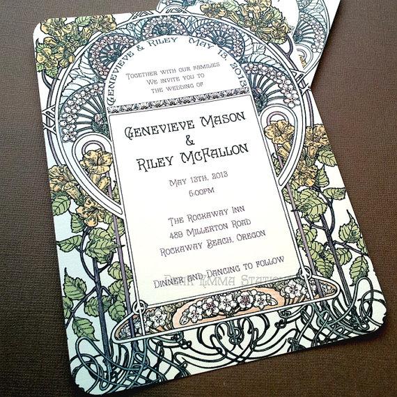 Art deco svadba - Neskutocne oznamenie...