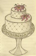 Torta bude presne takato... Akurat premyslam ci nebude krajkova. Cukrarka uz zajednana :-)