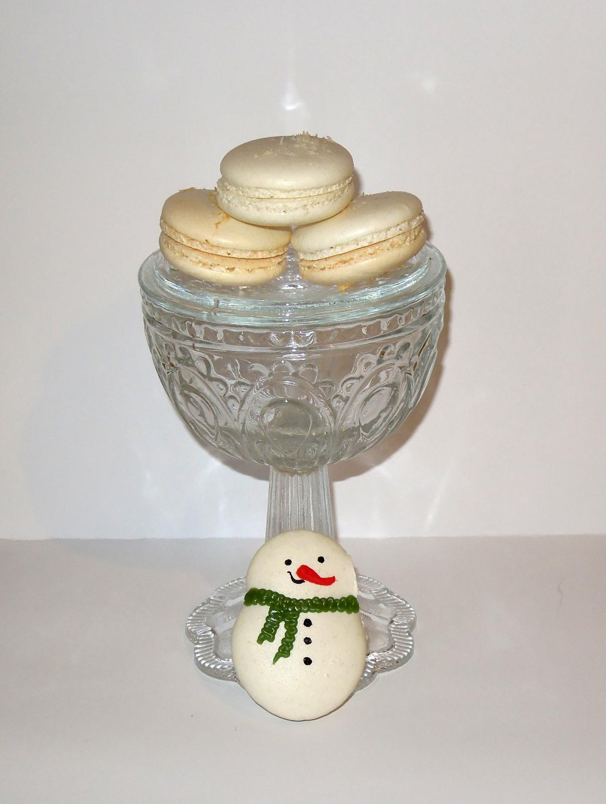Macarons - Skusam snehuliakov na vianoce :-)