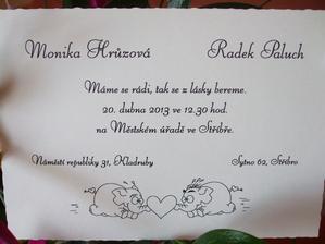 svatební oznámení :-)