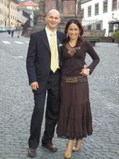 Ja s Rolandom na Zuzkinej svadbe.