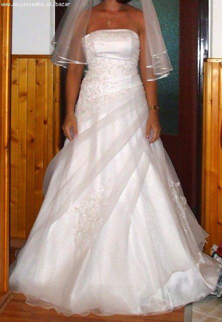 krásne biele svadobné šaty - Obrázok č. 1