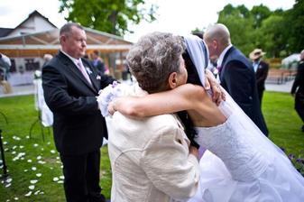S babičkou...moc plakala a tak rozplakala i mě