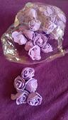 Malé pěnové růžičky lila,