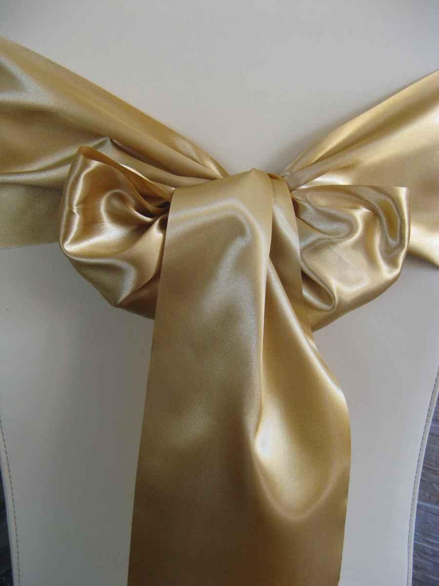 Saténové mašle - zlatá - predaj - Obrázok č. 1
