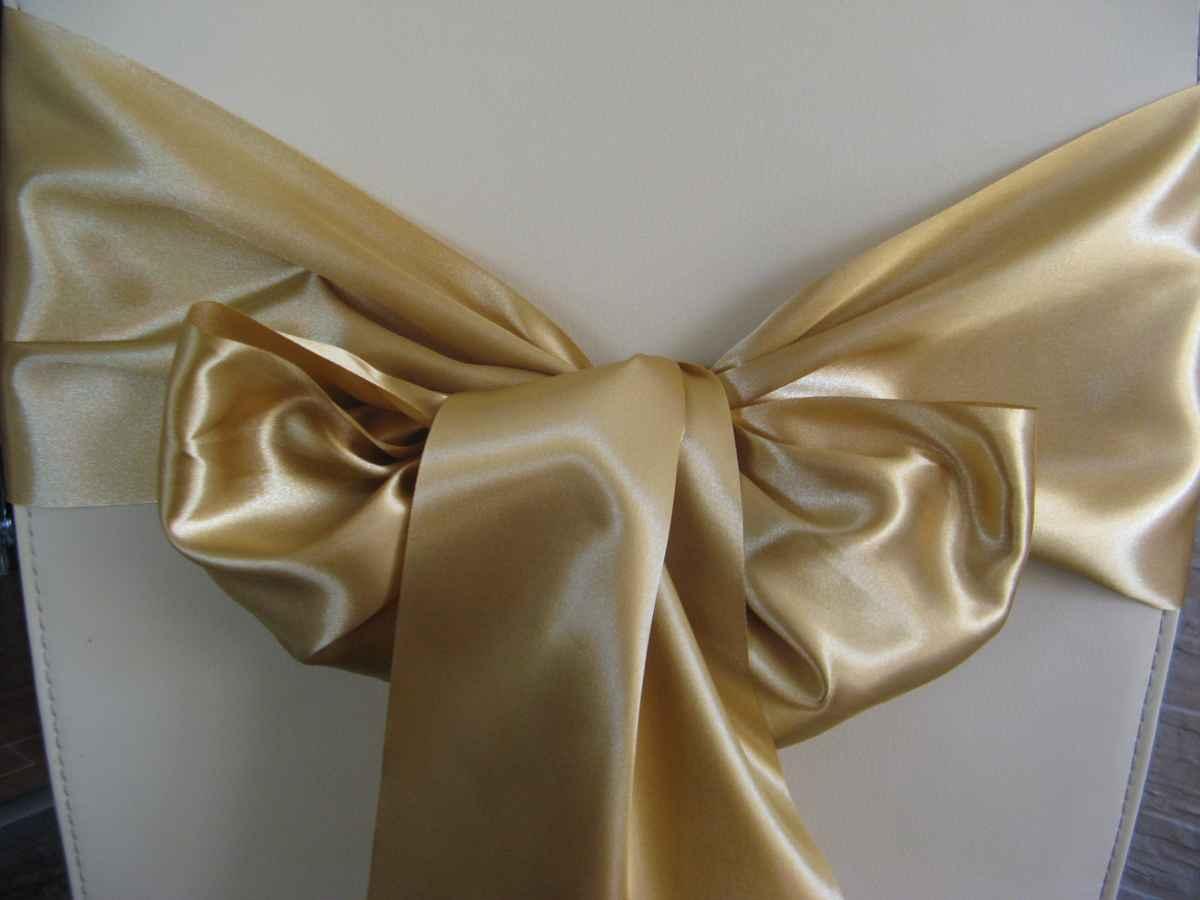 Saténové mašle - zlatá - predaj - Obrázok č. 2