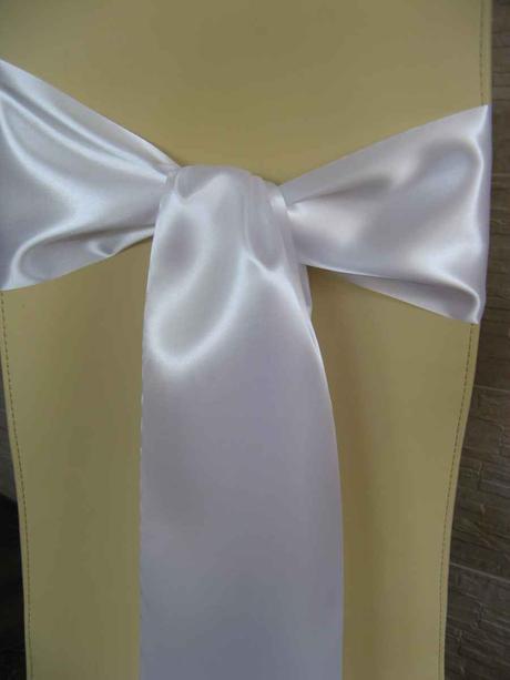 Saténové mašle - biela - predaj - Obrázok č. 1