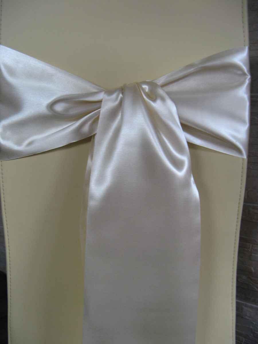 Saténové mašle - krémová - predaj - Obrázok č. 1