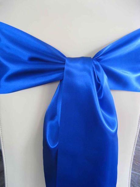 Saténové mašle - modrá - predaj - Obrázok č. 1