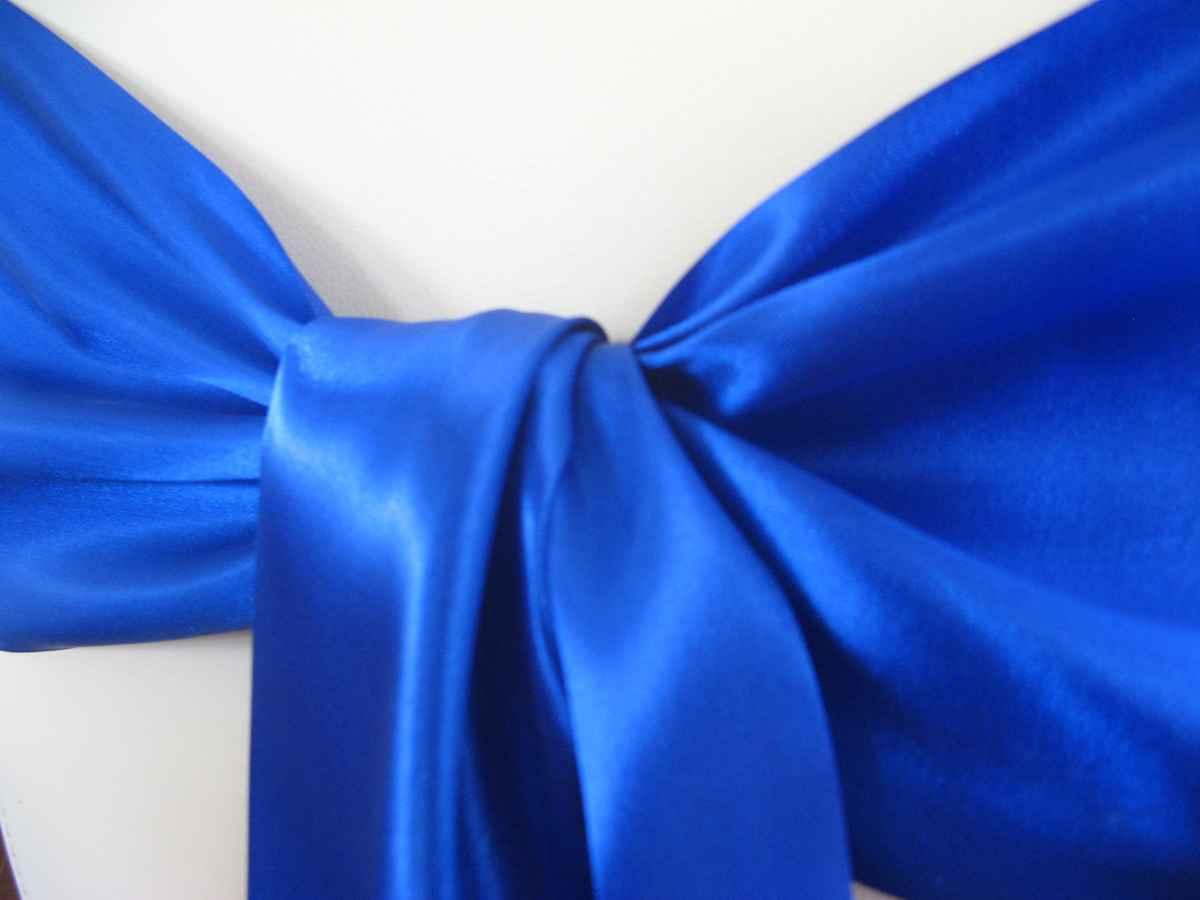 Saténové mašle - modrá - predaj - Obrázok č. 2